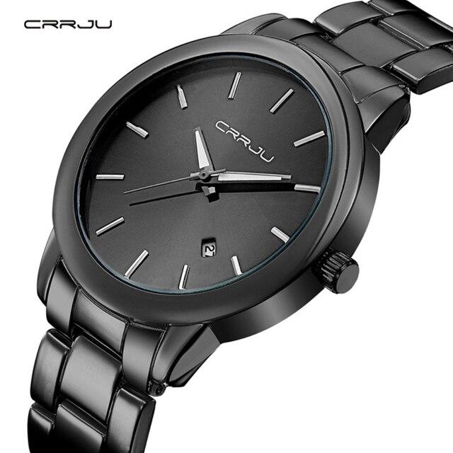 890fa1df716a 2018 nuevas llegadas alta calidad crrju reloj marca de lujo de acero  inoxidable relojes pulsera de