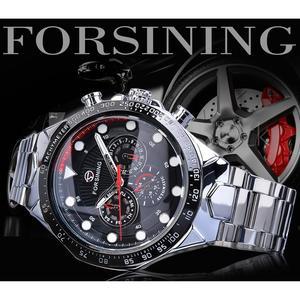 Image 2 - Forsining Fashion Men Watches Male Top Brand Auto Mechanical Watch Calendar Waterproof Sports Steel WristWatch Relogio Masculino
