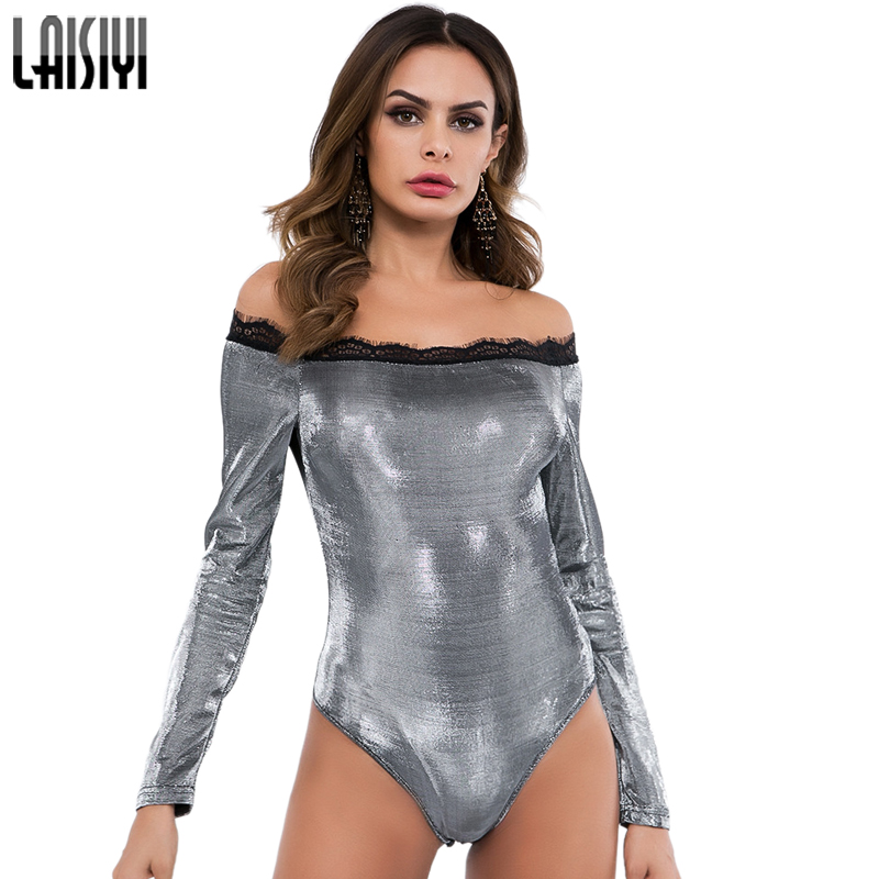 2019 New Style Laisiyi Streetwear Long Sleeve Bodysuit Women Sexy Bodycon Jumpsuit Romper V Neck Black Bodysuits Body Mujer Overalls Asju20382 Bodysuits