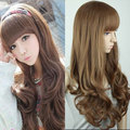 Harajuku Cosplay Wig Women Fashion Sexy Costume Party Full Long Wavy Curly Not Lace Synthetic Hair Wigs With Bangs Peruca Peruke