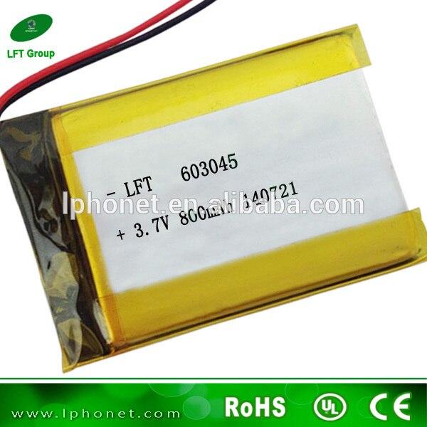 603045 power supply small 3.7v 800mah lipo battery for digital photo ...