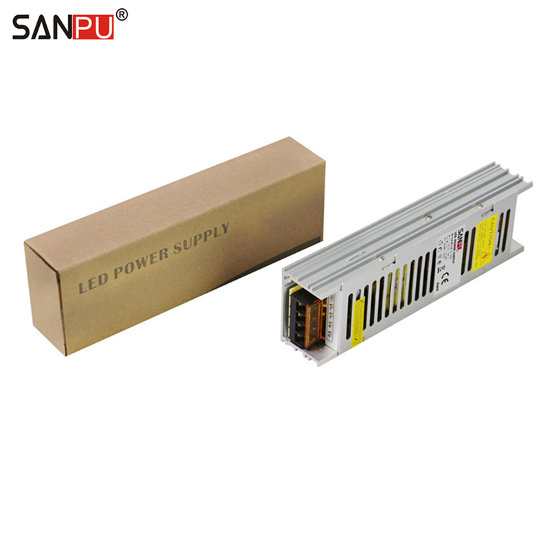 SANPU SMPS 24 v LED Power Supply 150w 6a Constant Voltage Switching Driver 110v 120v ac/dc Lighting Transformer Fanless AluminumSANPU SMPS 24 v LED Power Supply 150w 6a Constant Voltage Switching Driver 110v 120v ac/dc Lighting Transformer Fanless Aluminum