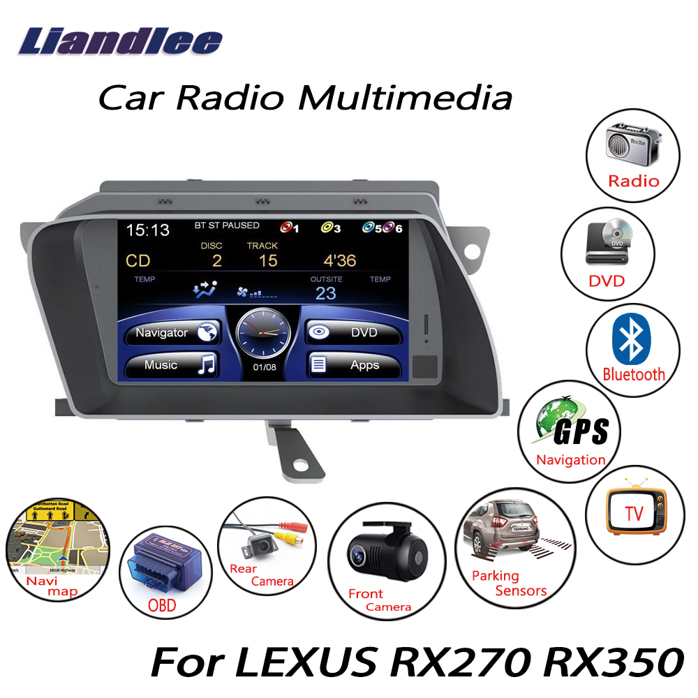 Liandlee For LEXUS RX270 RX350 2009~2015 Wince Car Radio CD DVD Player GPS  Navi Navigation Maps Camera OBD TV Screen Media-in Car Multimedia Player  from ...