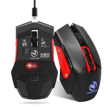 Wireless Rechargeable Gaming Mouse Gamer 7 Button Computer Game Backlit 4800DPI Mouse 2.4G Mice With Charging Cable For PUBG LOL