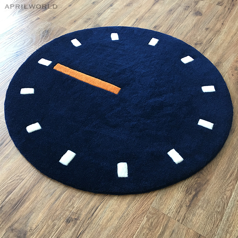 Thick Acrylic Simple Clock Carpet Cartoon Children Livingroom Hallway Mat Sofa Circle Computer Cushion Rug Pad Large SizeThick Acrylic Simple Clock Carpet Cartoon Children Livingroom Hallway Mat Sofa Circle Computer Cushion Rug Pad Large Size