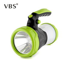 Светодиодный портативный прожектор фонарь прожектор USB Перезаряжаемый ручной фонарь высокой мощности 4 режима фонарик лампа для наружного кемпинга