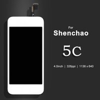 10PCS LOT Quality AAA For Shenchao 5c LCD Touch Screen Digitizer Assembly Black White Color LCD