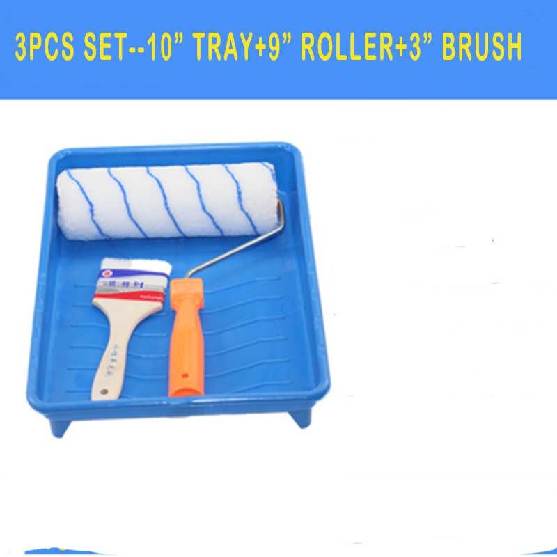2/3/5 stücke Farbe Werkzeuge Roller Malerei Pinsel Set 10 zoll Handwerk Farbe Schaum Tablett Wasser Wolle Haushalt Verwenden wand Dekorative DIY