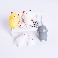 ФОТО 3d cute cat phone straps soft squishy toys for iphone goldfish polar bear soft silicone gel toy fingers pinch squeeze for xiaomi