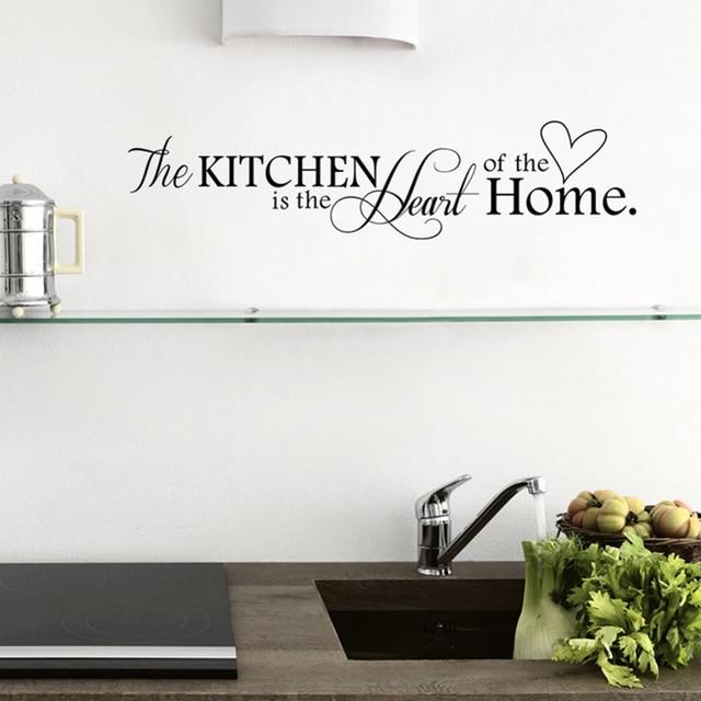 2x Kitchen Sticker Home Decor Kitchen Wall Sticker Quotes Stickers