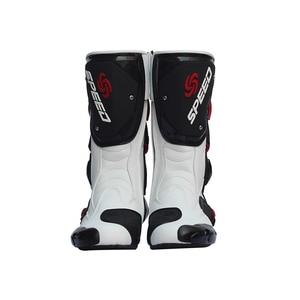 Image 5 - Мужские мотоциклетные ботинки, скоростная обувь для мотокросса, байкерские ботинки, мужские спортивные сапоги для езды на велосипеде по бездорожью