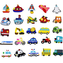 Aimant de réfrigérateur de voiture pour enfants, dessin animé 3D, aimants pour la décoration de la maison, jouets pour enfants, cadeaux pour garçons, 10 pièces/lot