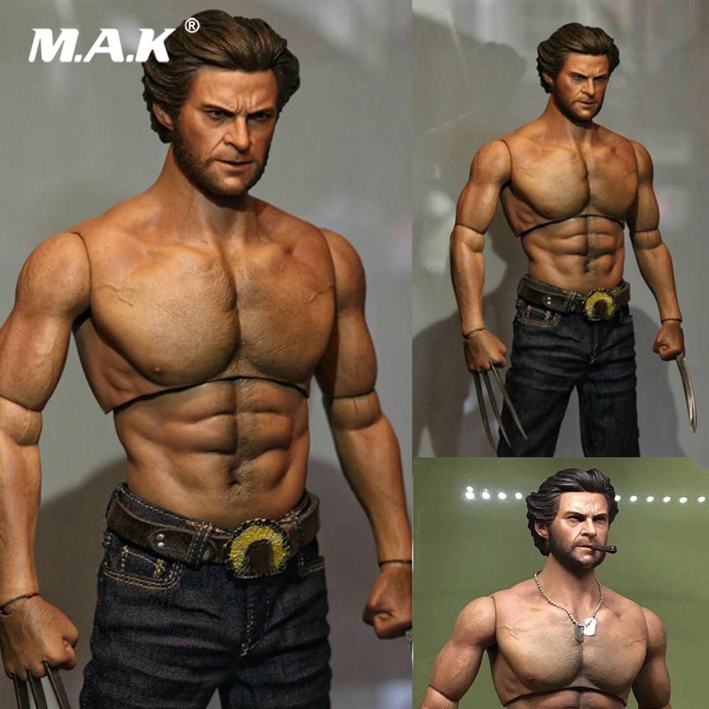 1/6 Scale Wolverine Muscle Thick chest  Body Tert of Wolves Rogan Youth Edition Male Soldier Accessory Model for 1:6 Head Sculpt