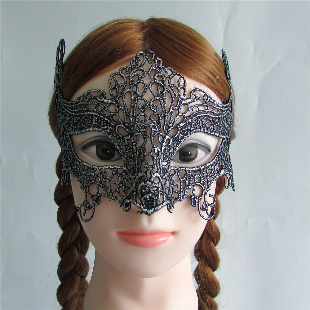 Hot Menjual Perak Sexy Lady Kupu Lace Masker Cutout Mata Untuk Tidur 3d Masquerade Party Fancy Dress Costume M177