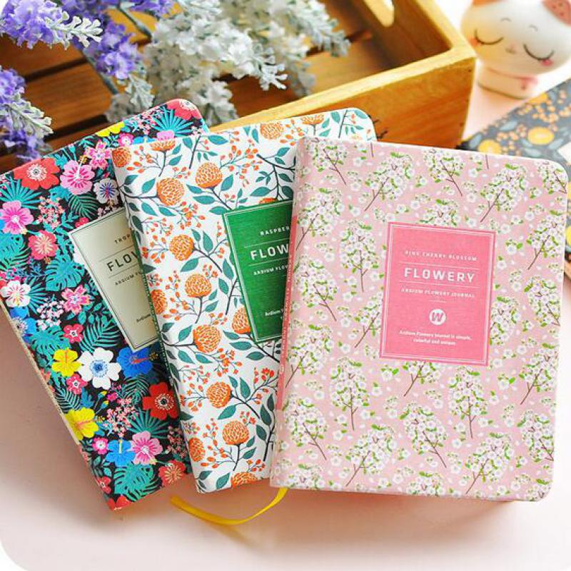 Cute Pu Leather Floral Flower Schedule Book Diary Weekly Planner A5 A6 Notebook School Office Supplies Kawaii Stationery fashion business pu leather a5 notebook portable black red book travel journal planner diary stationery office & school supplies