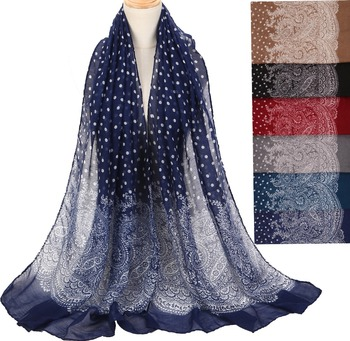 Woman Autumn Large Dot Print Soft Cotton Lady Comfortable Long Neck Scarf Shawl Voile Stole Lady Warm Scarf Gifts casual poppy print voile scarf
