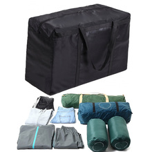 Household storage bag Black Folding waterproof Oxford fabric bag for blankets quilts sheets clothes organization travel bags