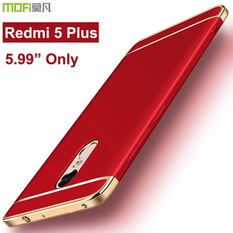 xiaomi redmi 5 plus case xiaomi redmi5 plus case back bumper mofi luxury hard protection 360 full cover xiaomi redmi 5 plus case