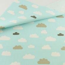 Accueil Textile Patchwork Couture Tissu Artisanat Teramila Tissus Tecido Bleu Nuage De Coton Courtepointe Literie Décoration De Tissu