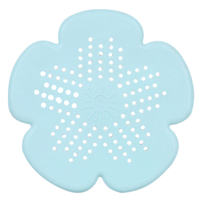 Bathroom Sinks,faucets & Accessories New Cherry Blossom Sewer Drainage Filter Bathroom Sink Kitchen Plug Anti-blocking Sewage Covers Floor Covering Hair Filter Blue