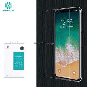 Image 1 - Gehärtetem Glas Für Apple iPhone XS Max Screen Protector Für iPhone XR X NILLKIN Erstaunlich H Nanometer Anti burst schutz Film