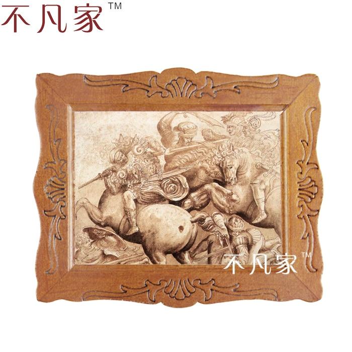 Wholesale Dollhouse 1:12 scale miniature classical ancient warriors oil painting D-12