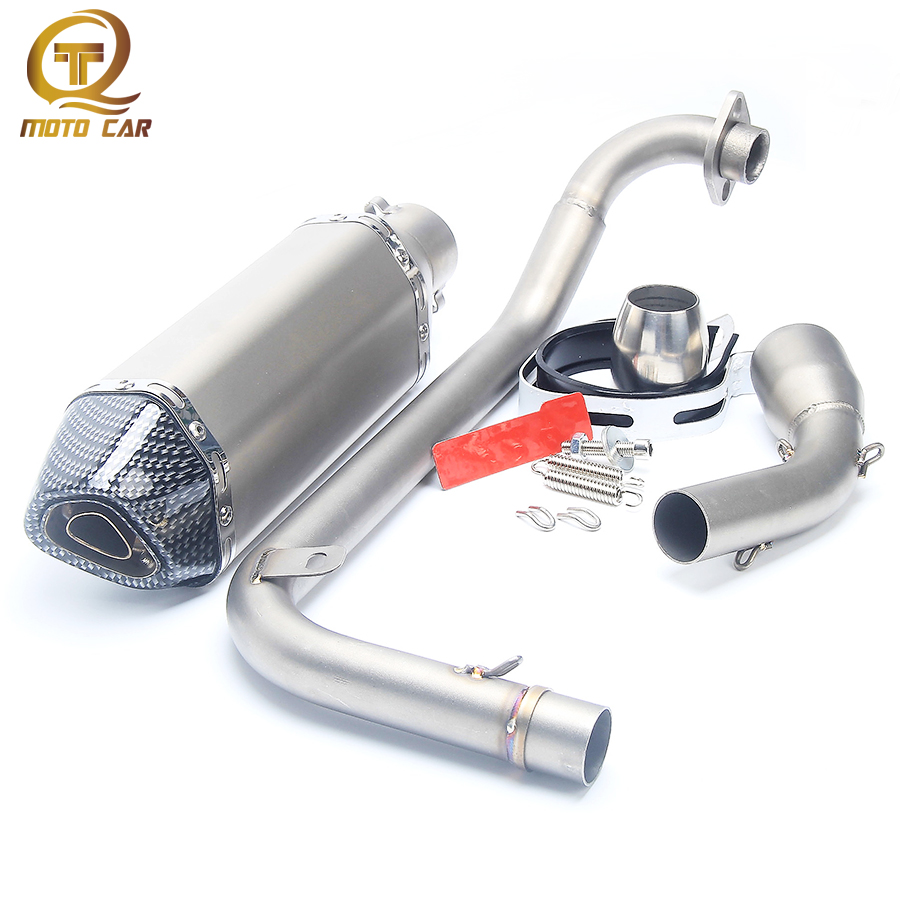 Motorcycle Exhaust Muffler DB Killer System Full Exhaust Muffler Pipe Front Link Pipe Escape Moto For Honda Msx125 Grom Msx125 38mm 52m motorcycle muffler exhaust pipe escape moto escapamento de for honda mxs125