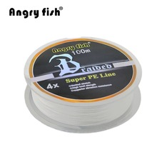 100M 1.0 2.0 Number Braided Fishing Line Super Strong PE Line Professional Fishing Line For Fishing Enthusiast White New Style
