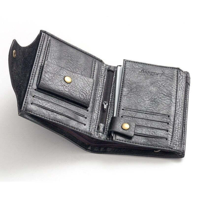 Baellerry Brand Passport Wallet Men Genuine Leather Wallets Vintage Card Holder Passport Cover Case Men's Purse Travel Walet