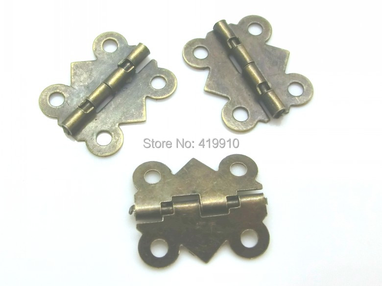 Free Shipping-50pcs Door Butt Hinges(rotated from 90 degrees to 210 degrees) Antique Bronze 4 Holes 20mm x 17mm J1251 50pcs free shipping bc338 25 bc338 to 92 bipolar transistors