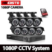 CCTV Sistema de vigilancia de Vídeo kit de 8×2 Mp SONY322 AHD 1080 P Impermeable Cámara de Seguridad de 8 Canales HDMI 1080 P DVR NVR CVI TVI conjunto