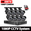 CCTV System Video Surveillance Kit 8x2Mp SONY323 AHD 1080P Waterproof Security Camera 8Channel HDMI 1080P DVR