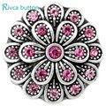 D00634 Hot atacado de alta qualidade colorido Rhinestone 20 mm Rivca Snaps botão ajustar pressão pulseira e pulseiras para a mulher encaixar jóias