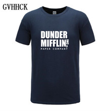 Free shipping 2019 Men Print The Office TV Show Dunder Miffl