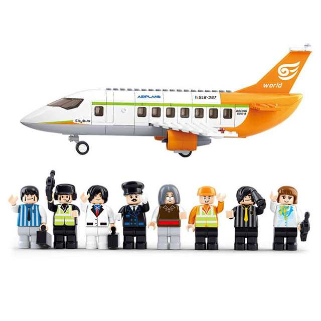 S Model Compatible with Lego B0367 678pcs Airport Plane Models Building  Kits Blocks Toys Hobby Hobbies For Boys Girls