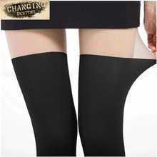 ab5ec9cbf7f Women Tights Best Selling Fashion Sexy Black Mixed Colors Tinted Sheer  False High Stocking Pantyhose Over