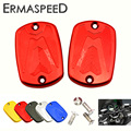 Pair CNC Aluminum Motorcycle Front Brake Reservoir Fluid Tank Cap Modified Accessory for Yamaha TMax 530 2012-2016 500 2008-2011