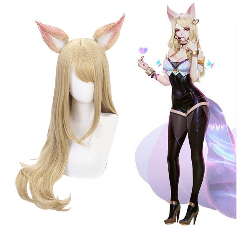 Game-LOL-K-DA-Anime-Party-Wig-Hair-Cosplay-Costume-Akali-Evelynn-Ahri-Kaisa-Hair-Cosplay (3)