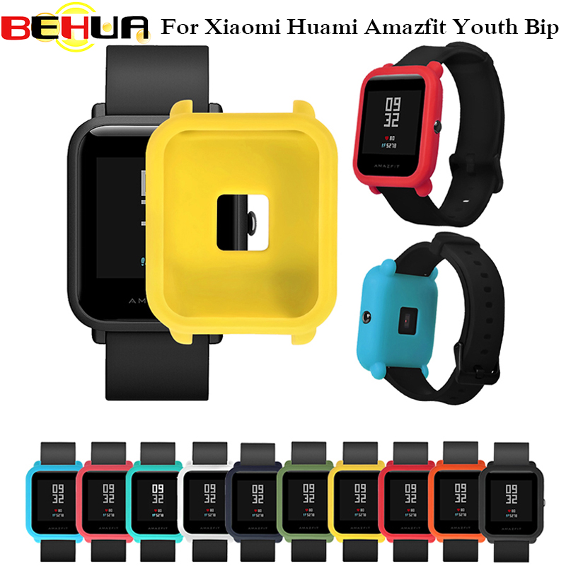 Smart Accessories Protector Frame Colorful Case Cover Shell for xiaomi Huami amazfit bip Pace Youth Watch Soft Silicone FrameSmart Accessories Protector Frame Colorful Case Cover Shell for xiaomi Huami amazfit bip Pace Youth Watch Soft Silicone Frame