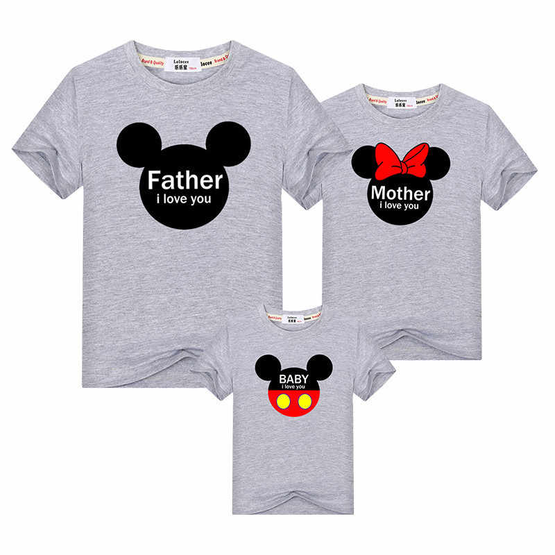 e1667d69d27b2 Lolocee Family Matching Outfits cartoon mother & daughter summer dresses  mom son parent-child clothes kids cotton tops t shirt