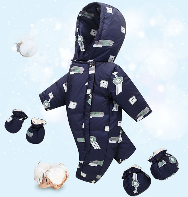 New baby down jacket Childrens thick jumpsuitsNew baby down jacket Childrens thick jumpsuits