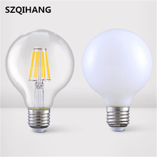 E27 E14 5W 6W 7W 8W COB 100LM/W Warm Cold White LED Filament Bulbs Glass Cover Frosted Bulb Lights