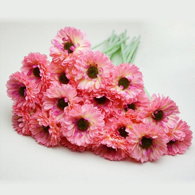 Matrimonio Fiori Girasole : Artificiale finto girasole fiore di seta teste bouquet casa