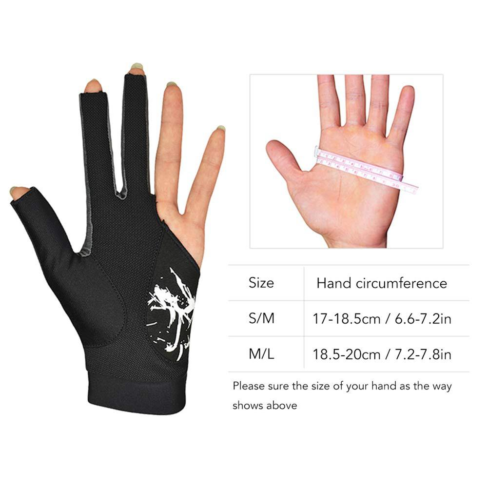 New Elastic Lycra 3 Fingers Show Gloves High Quality Gloves For Billiard Shooters Carom Pool Snooker Cue Sport For Men And Women