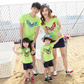 2017 mother son outfits children tshirt summer new Korean couple clothes family pack cotton short sleeve t-shirts