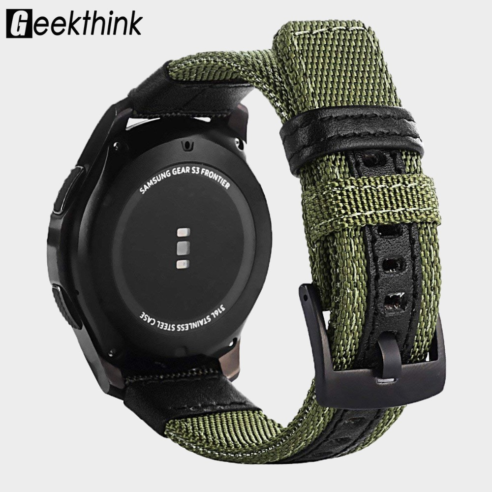 20mm 22mm Watch Band strap nylon Fabric For Samsung Gear S3 Frontier / Classic Quick Release Pins Replacement Straps Universal