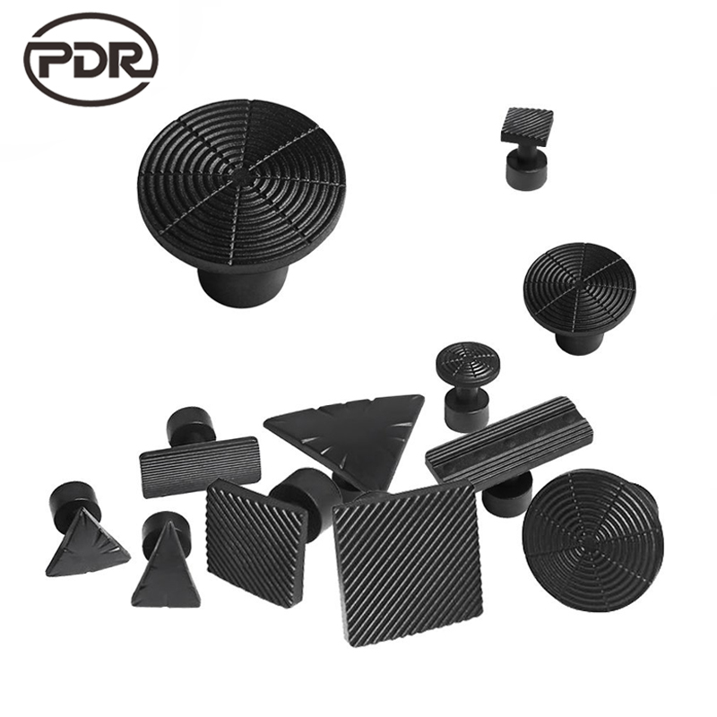 PDR Tools Kit Black Glue Tabs Dent Tabs Suction Cup Suckers For Dent Removal Paintless Dent Repair Tools Pull Dent silca dent