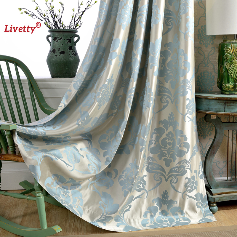 Compare prices on damask window online shopping buy low for B q living room curtains