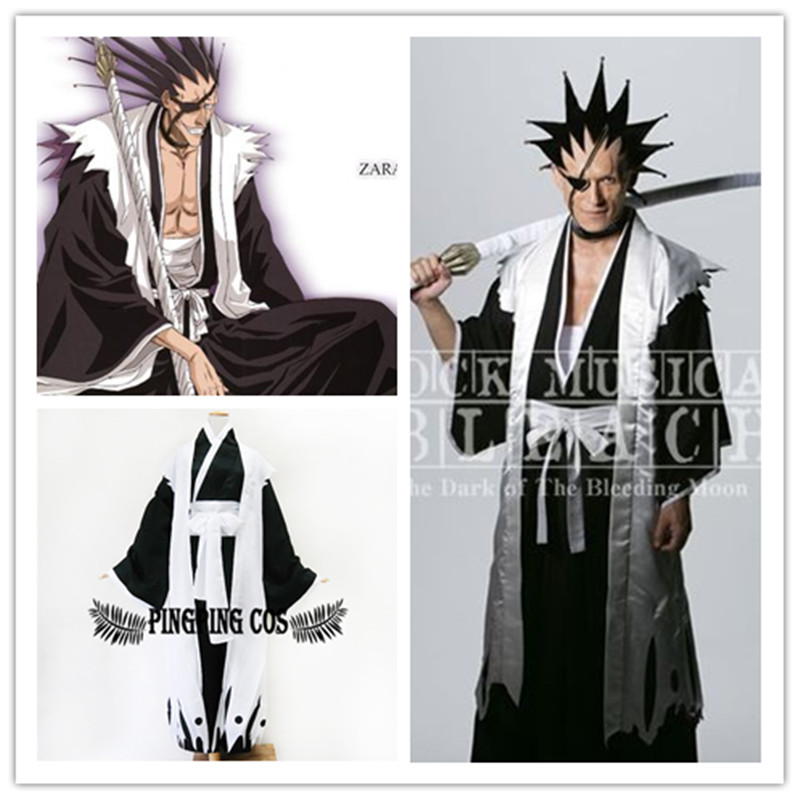 Anime Bleach Cosplay 11th Division Captain Zaraki Kenpachi Costumes Japanese Kimono Any SizeFree Shipping In Mens From Novelty