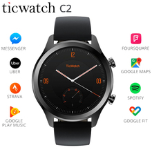 Original Ticwatch C2 Smart Watch WIFI GPS IP68 Waterproof Strava Google Pay Wear OS by 1.3 AMOLED Screen SMS Reminder